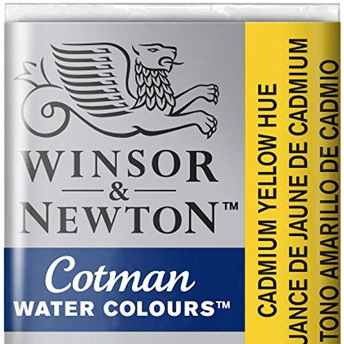 Winsor & Newton Cotman Acuarela En Pastilla, Tono Amarillo De Cadmio, 1,9x1,6x1,1 cm