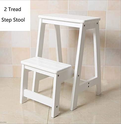 descuento XRFHZT - Escalera Plegable multifunción multifunción multifunción de Madera Maciza para el hogar, Escalera de Tres escalones para sillas, Escalera de Escalera de Madera para Interiores  comprar marca