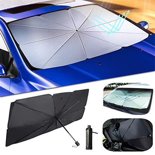 ytbmhhuoupx Car Windshield Sun Shade for Mercedes Benz CLK 200 220 230 240 270 280 320 350 430 500 55 63AMG Blocks Rays Sun Umbrella Visor Protector Foldable Reflector Umbrella 31x57in