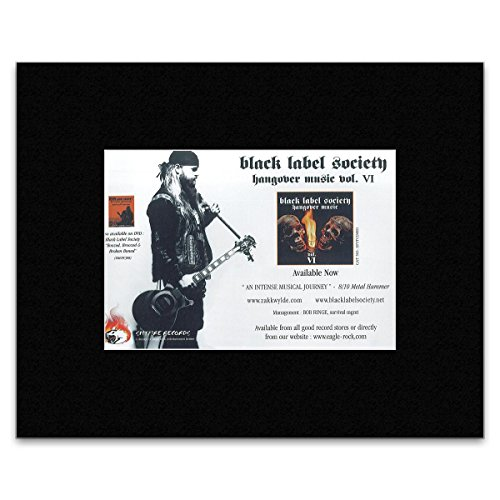 BLACK LABEL SOCIETY - Hangover Music Matted Mini Poster - 13.5x21cm