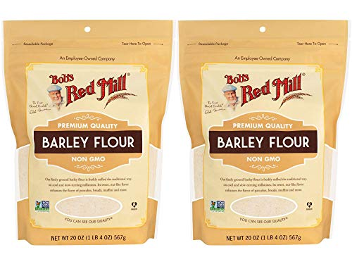 Bob's Red Mill Barley Flour | Whole Grain Stone Ground Flour | 20 Ounce Resealable Pouch | Pack of 2