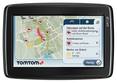 TomTom GO LIVE 820 Navigationssystem (11 cm (4,3 Zoll) Display, HD Traffic, Google, Bluetooth & Sprachsteuerung, Fahrspur- & Parkassistent, Europa 45)