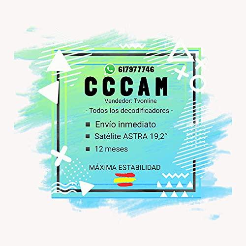 CCCAM Premium - 12 Meses - ESPAÑA - Cline con ENVÍO EN 30 Minutos - Estable 100%- Vendedor: Tvonline
