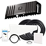 Cel-Fi GO X | Cell Phone Signal Booster | 1 Directional Panel Antenna Bundle Kit - All Accessories Included | Multi-Carrier Support with Carrier Switching | Up to 100 dB Multiuser Gain