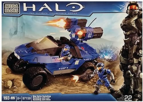 Mega Bloks Halo Blau Series Rockethog (97159) [Retirot Set] by Halo Wars