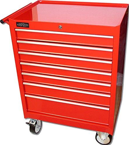 Professionele gereedschapswagen rood 46 cm x H 94,5 cm x B 68 cm, 7 schuifladen