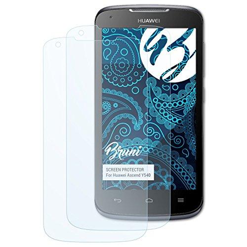 Bruni Schutzfolie kompatibel mit Huawei Ascend Y540 Folie, glasklare Bildschirmschutzfolie (2X)