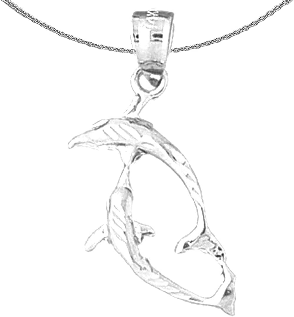 Jewels Obsession Ranking TOP9 San Francisco Mall Gold Dolphin White 14K Necklace