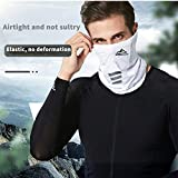 Multifunctional face mask, Scarf, Anti-aerosol Ultraviolet, Washable, Light and Breathable, Repeated use for Men and Women (White, Reflective)