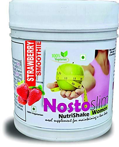 Develo Slimming Protein Shake Fat Burner Weight Loss Supplement For Women & Girls NostoSlim Powder [Strawberry] 540Gm