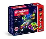Magformers Space Wow Alien 22 Pieces Set, Rainbow Colors, Educational Magnetic Geometric Shapes Tiles Building STEM Toy Set Ages 3+