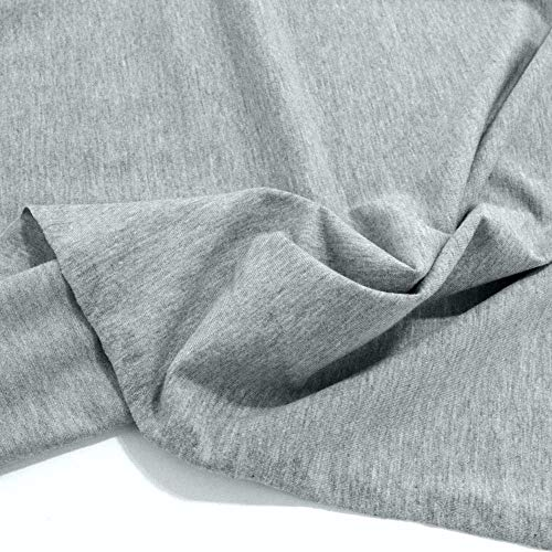 TOLKO 50cm Baumwoll-Jersey für Shirt Kleid Rock | Weich Blickdicht knitterarm elastisch | Kleiderstoff Modestoff zum Nähen/Dekorieren | 150cm breit Jersey Baumwollstoff Meterware (Grau Meliert)