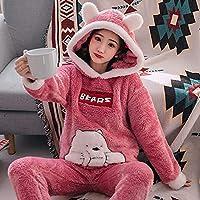SDCVRE Pajama set Winter Women's Pajamas Sets Fashion Animal Rabbit Pyjamas Femme Two Pieces Pijama Suit Nighties Sleepwear Girl Home Clothes,C825,M