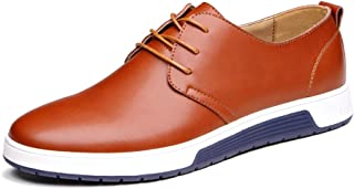 Men's Casual Oxford Shoes Breathable Flat Lace-up Dress Fashion Sneakers