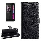 Cas de téléphone -Pour Sony Xperia E5 Litchi Texture Retournement horizontal en cuir avec boucle...