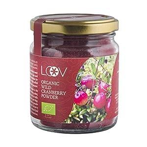 Polvo de Arándano Ágrio Silvestre Orgánico LOOV (polvo de orujo), 100 g, rico en antioxidantes y fitonutrientes, hecho con cáscaras y semillas de bayas, sin azúcar, cosechado en bosques nórdicos