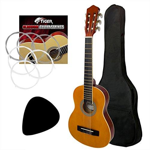 Tiger Full Size Left Handed Classical Guitar Pack - Nylon Strings