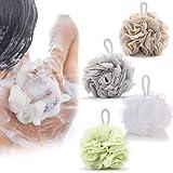 KSang 4 Pack Bath Shower Sponge Soft Mesh Puff Body Exfoliating Rich Bubbles Shower Ball Sponge Loofah Bath for Massage and Cleaning