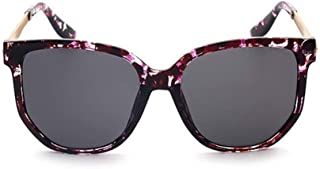 LUKEEXIN Retro Style Oversized Unisex UV Protection Sunglasses Colored Lens Outdoor Driving Travelling (Color : Black)