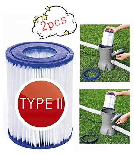 XIAOL filtro de piscina tipo 2, apto para Bestway II – Cartucho de filtro para piscina, filtro de limpieza de piscina, accesorios, cartuchos de filtro, filtro de cartuchos, papel.