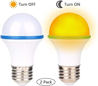 Amber Light Bulbs, Bedroom Night Light Bulb A15 3 Watt-25 Watt SONSY Home Non-Dimmable Equivalent LED Light Bulb Warm Night Light, Yellow Color Bulbs for Bedroom, E26/E27 Base (2 Pack) (Blue)