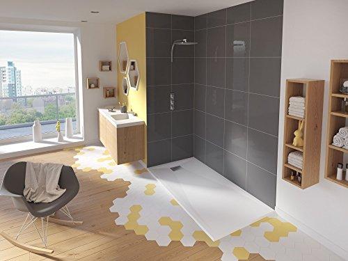 Receveur extra-plat KINESURF - 90 x 90cm carré blanc
