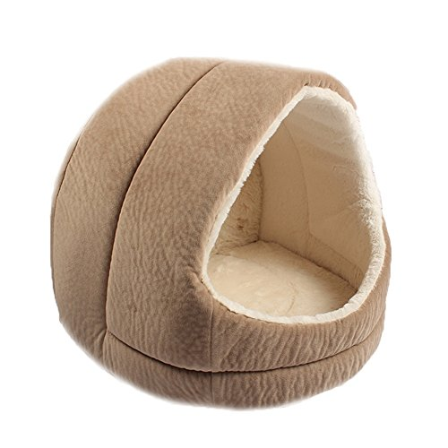 XiuHUa Brown, kaki kat nest kennel grot comfortabele slaapzak bed met anti-slip mat vier seizoenen universele Huisdier benodigdheden, A