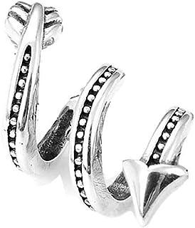 Charm a forma di freccia a spirale, in argento 925/1000