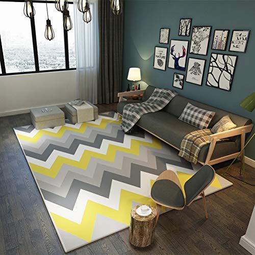 QUD Mostaza del Arte Abstracto de la geometría Alfombras Salón Dormitorio de...