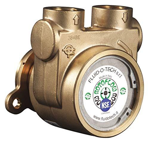 1/2' Brass Rotary Vane Pump, 232 Max. Flow (GPH)