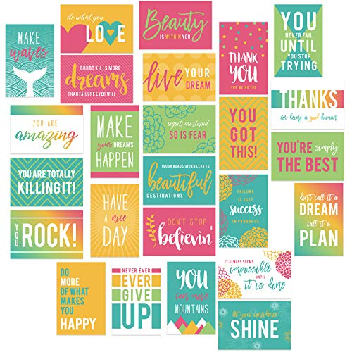 """Motivational Quote Postcards / 25 Inspirational Postcards / 6"""" x 4"""" Encouraging Note Cards"""