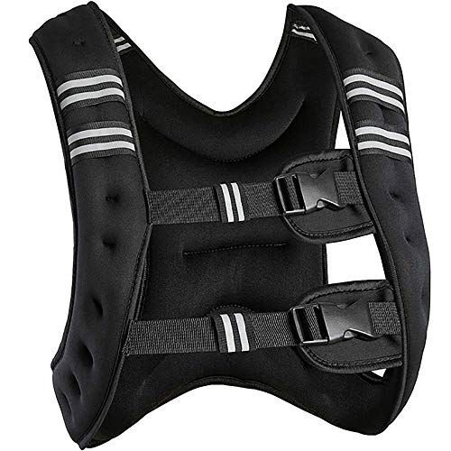 D&XQX Weighted Vest,Adjustable Training Vest Jacket Weight Training Running Weight Loss Body Workout Vest 10Kg,36 20 9Cm