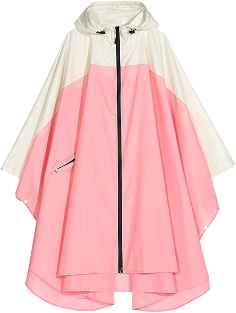 Spmor Rain Poncho Spring new work one Elegant after another Hooded Waterproof for Raincoat w Adults Jacket