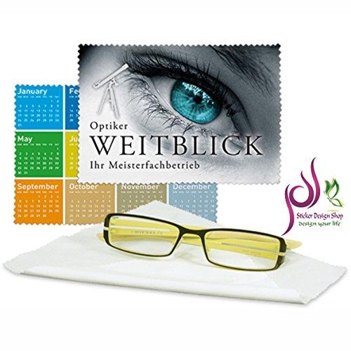 Sticker Design Shop Glasreinigungstuch Brillenputztuch individuell Bedruckt mit ihrem Wunsch Foto (ohne Geschenkbox)