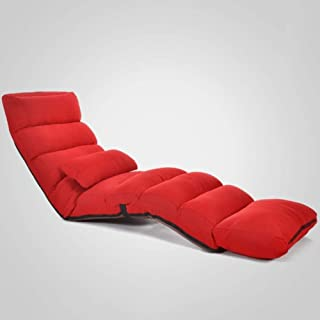 LLRYN Folding Lazy Sofa Chair Stylish Sofa Couch Beds Lounge Chair W/Pillow (Color : 2#)