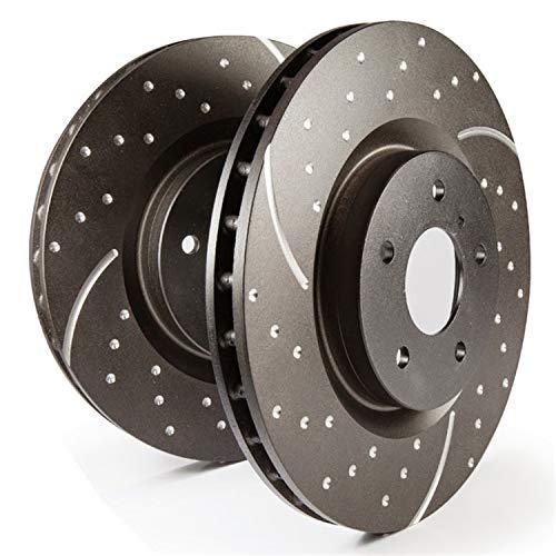 2X Brake Discs Rotors and 4X Ceramic Pads Fits Honda 2009-2012 Front Drilled
