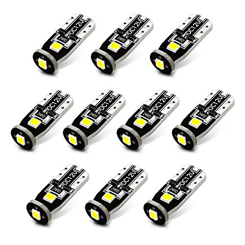 JDM ASTAR 10pcs Super Bright 194 168 175 2825 T10 PX Chipsets White LED Bulbs