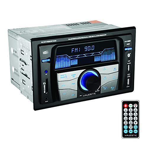 Majestic SV 517 RDS BT Dab - Autoradio FM Stereo Dab+ Bluetooth, Doppio DIN, ingressi USB/SD/AUX-in, USB Charger, 180W(45x4ch), Nero