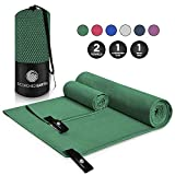 ScorchedEarth Microfiber Travel & Sports Towel Set - Quick Dry, Super Absorbent, Compact, Lightweight - for...