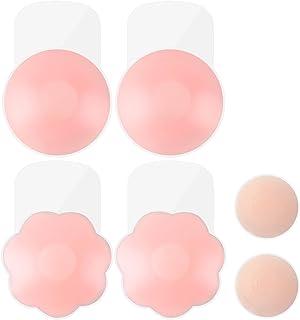 Pezoneras Adhesivas, Push Up Breast Lift Sujetadores Adhesivos Invisibles Reutilizable Levantamiento Cubierta