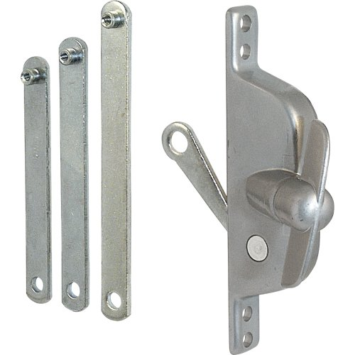 Jalousie Operator, 4-3/4 in. Hole Centers, Reversible w/Links, Aluminum Finish, 1 Set