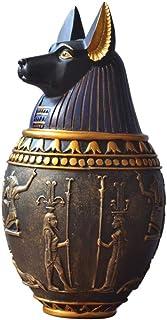 Home Accessories Decoration Ornament Sculptures,Ancient Egypt Dog God Canopic Jar Storage Figurines Pharaoh Saint Resin Ar...