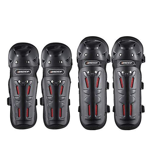 WYBF Motorrad Knie und Ellbogenschutz Kit Rennsport Motocross Schutz Moto Schutz Motorrad Knieschoner Ausrüstung