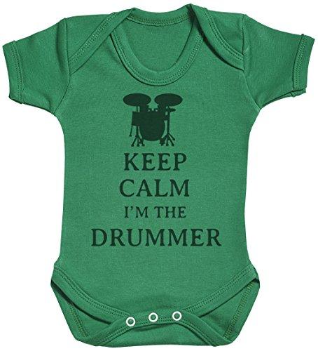 Keep Calm I'm The Drummer Body bébé - Gilet bébé - Naissance Vert
