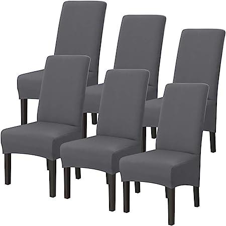 c/ér/émonie d/écoration de f/ête de mariage banquet Housse de chaise extensible Lot de 4//6 housses de chaise amovibles et lavables Pour h/ôtel Fuloon salle /à manger