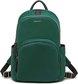 Backpack Business Computer Small Backpack, Backpack Female 2019 Nylon Oxford Cloth 12.5 inch (Color : Green, Size : Small)