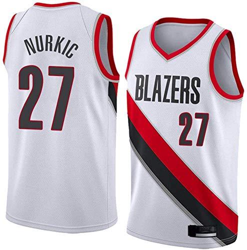 Basketball Herren NBA Trikot Portland Trail Blazer 27# Jusuf Nurkic Trikot NBA Unisex Ärmellose Tops Outdoor Sportwettbewerb Anzüge Weste,L