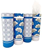 Car Tissue Holder with Facial Tissue Bulk - 4 PK TissueTube, 2-Ply Travel Tissues Travel Size, Perfect Fit for Car Cup Holder, Car Tissue Box, Round Container Car Tissues