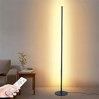 Lampadaire sur Pied LED 20W Noir Lampe sur Pied avec Télécommande Dimmable Lampe de Lecture Comprend, Lampe à Pied avec In...