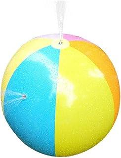 SYXX Arco iris de riego inflable bola inflable al aire libre de agua disperso pelota de playa de riego, pulverización Partido Natación bola, bola de pulverización de agua de PVC, inflable pelota de pl